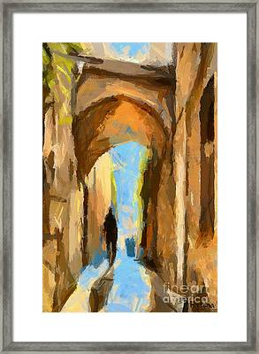 Just Me And My Shadow Framed Print by Dragica  Micki Fortuna