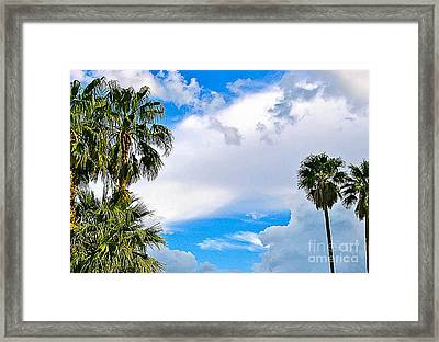 Just Mingling Framed Print by Angela J Wright