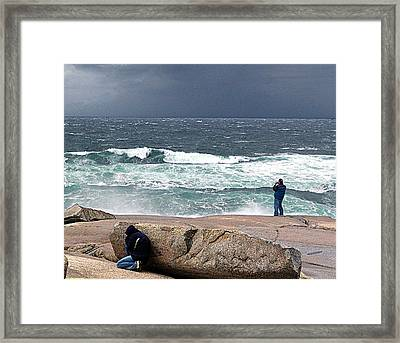 Just One More Shot Framed Print by George Cousins