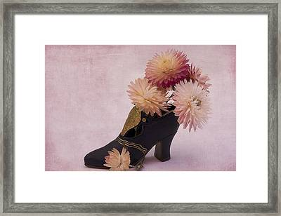 Framed Print featuring the photograph Just One Shoe by Sandra Foster