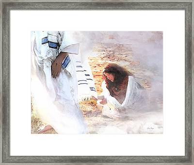 Just One Touch Framed Print