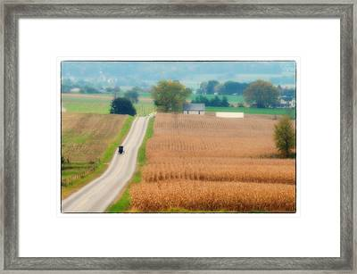 Just Over The Hill Framed Print
