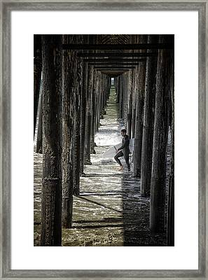 Just Passing Through Framed Print by Joan Carroll