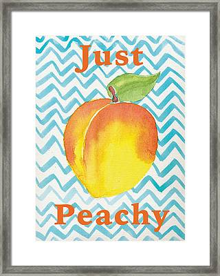Just Peachy Painting Framed Print by Christy Beckwith