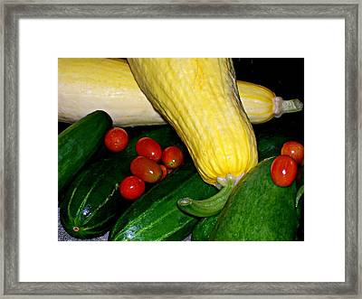 Just Picked Framed Print by Barbara S Nickerson