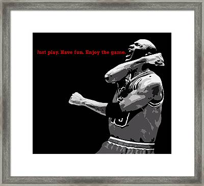 Just Play Framed Print