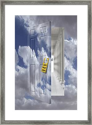 Just Pray Already Framed Print by Mike McGlothlen