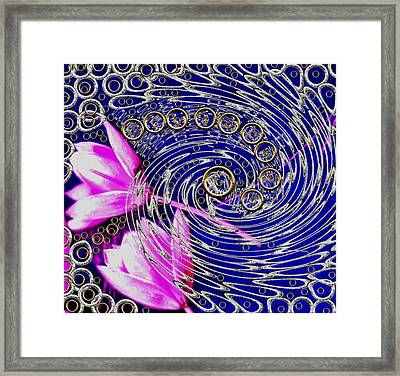 Just Reach Out For Love Pop Art Framed Print