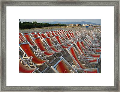 Framed Print featuring the photograph Just Relax At The Shore by Caroline Stella