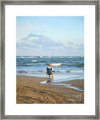 Just Relaxin And Fishin Framed Print by Suzi Nelson