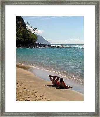 Just Relaxin' Framed Print