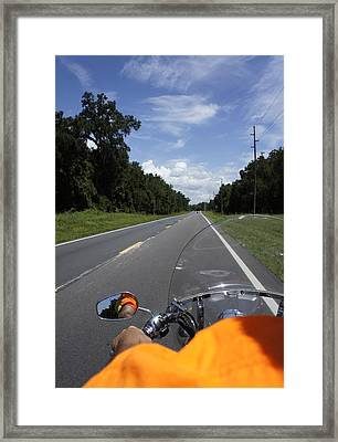 Just Ride Framed Print by Laurie Perry