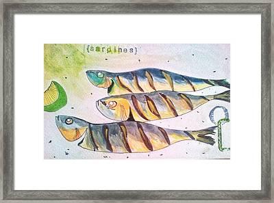 Just Sardines Framed Print by Olivier Calas