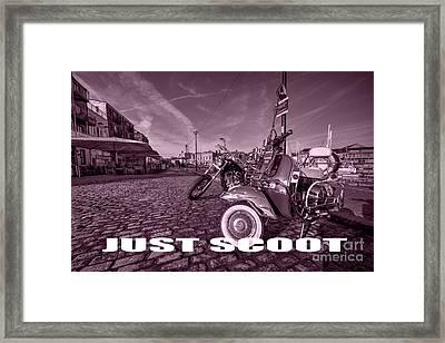 Just Scoot Framed Print