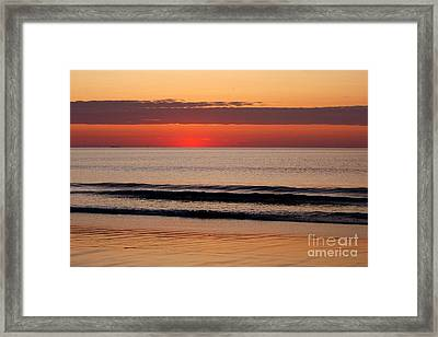 Just Showing Up Along Hampton Beach Framed Print by Eunice Miller