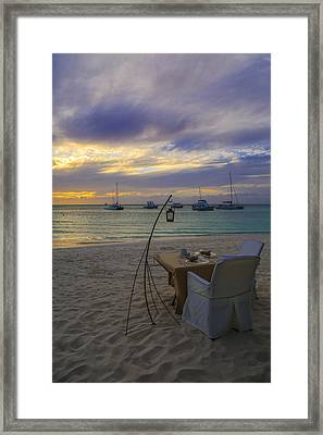 Just Sit Back Relax And Enjoy The Sunset Framed Print by Eti Reid