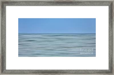 Just Sky Just Water - A Tranquil Moments Landscape Framed Print by Dan Carmichael