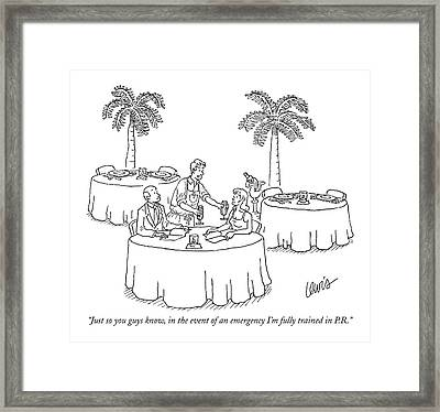 Just So You Guys Know Framed Print by Eric Lewis