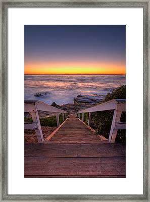Just Steps To The Sea Framed Print