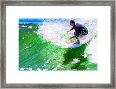 Just Surf - Santa Cruz California Surfing Framed Print by Mark E Tisdale
