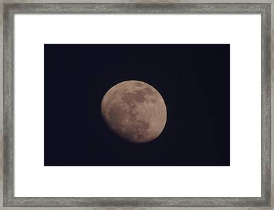 Just The Moon Framed Print by Jeff Swan