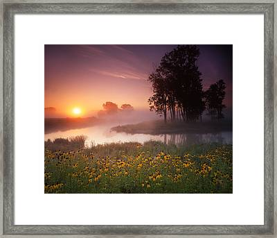 Just The Right Moment Framed Print by Ray Mathis