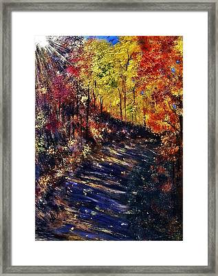 Framed Print featuring the painting Just The Sound Of The Forest... by Cristina Mihailescu
