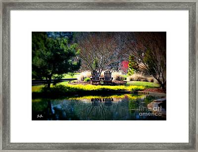 Framed Print featuring the photograph Just The Two Of Us by Geri Glavis