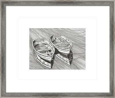 Two Dinghy Friends Just The Two Of Us Framed Print by Jack Pumphrey