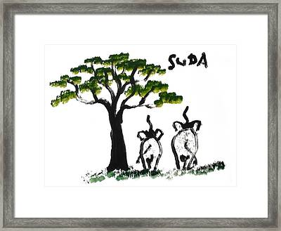 Prints Elephant Paintings - Just The Two Of Us Framed Print