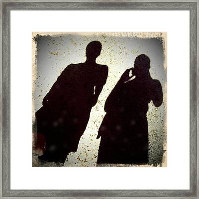 Just The Two Of Us - Shadows Of A Couple Framed Print by Matthias Hauser