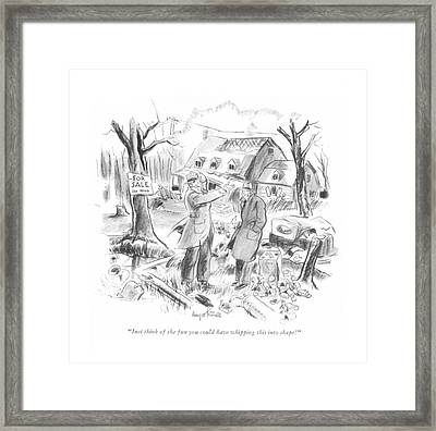 Just Think Of The Fun You Could Have Whipping Framed Print by Kemp Starrett