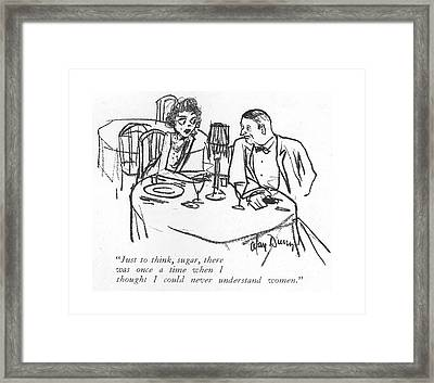 Just To Think Framed Print by Alan Dunn