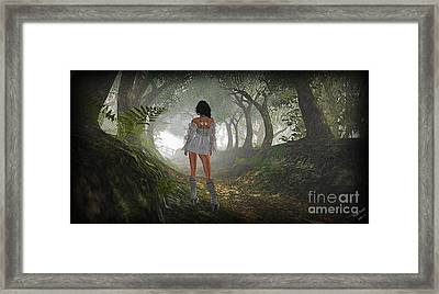 Just Up Ahead Framed Print
