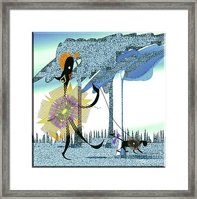 Just Walking Framed Print