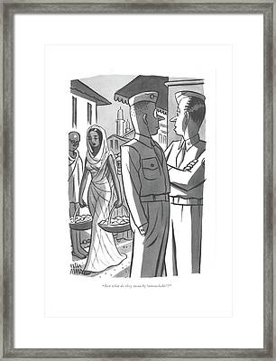 Just What Do They Mean By 'untouchable'? Framed Print by Peter Arno