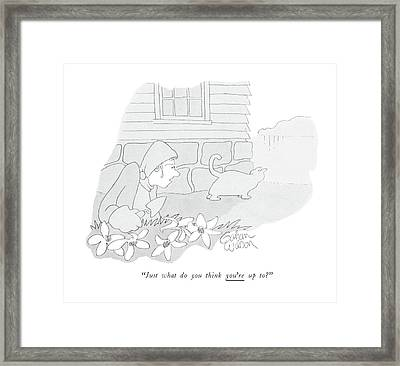 Just What Do You Think You're Up To? Framed Print by Gahan Wilson
