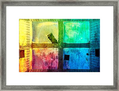 Just Window 1 - Colorful Framed Print