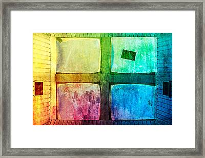 Just Window 2 - Colorful Framed Print