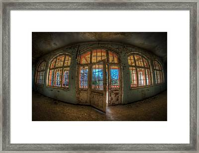 Just Windows And A Door Framed Print by Nathan Wright