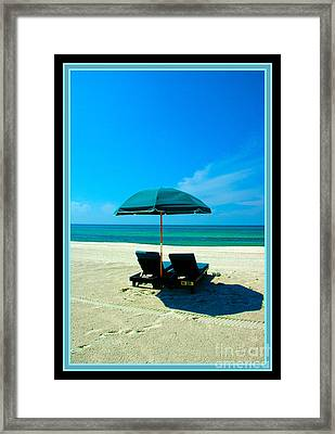 Just You And Me And The Beach Framed Print by Susanne Van Hulst