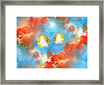 Just You And Me Babe Framed Print