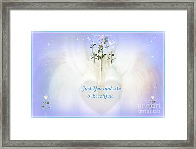 Just You And Me I Love You Framed Print by Sherri's Of Palm Springs