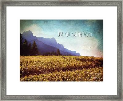 Framed Print featuring the photograph Just You And The World by Sylvia Cook