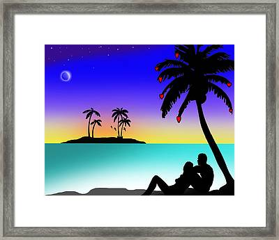 Just You..and Me..underneath The Love Tree Framed Print by Peter Stevenson