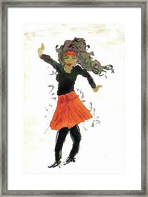 Just Zumba Framed Print by Lesley Fletcher