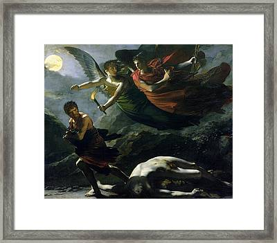 Justice And Divine Vengeance Pursuing Crime Framed Print by Pierre-Paul Prud'hon
