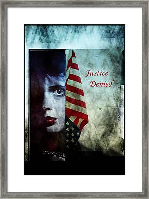 Framed Print featuring the photograph Justice Denied by Allen Beilschmidt