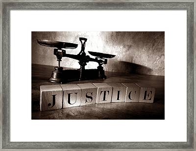 Justice For All Framed Print by Olivier Le Queinec