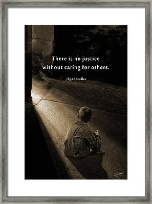 Justice For All Framed Print by IM Spadecaller